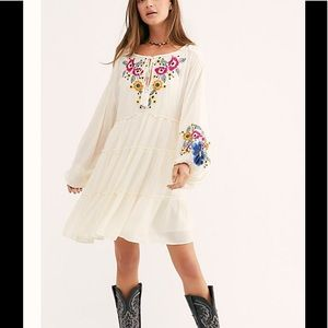 NWOT Free people oversized embroidered dress S
